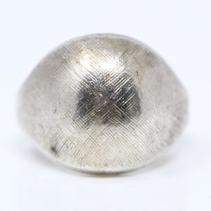 LIND VINTAGE Sterling Silver Textured Dome Ring 6